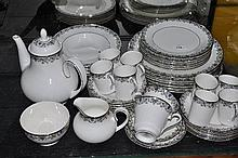A Royal Doulton dinner service, Flower and Lace pattern