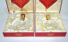 Two Remy Martin decanters, boxed