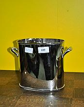 An EPNS patented ice bucket, 18cm H