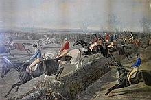 A Foures's National Sports hand coloured lithograph, Steeplechase Cracks (AF)