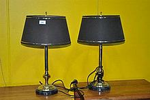 A pair of table lamps, various, 60cm H