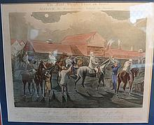 Henry Alken (1785-1851) English, After, The Ipswich watering hole + The field near Miles Corner from The First Steeplechase on recor...