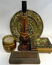 Miscellaneous items including lamp, etc.