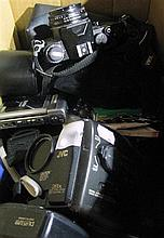 A collection of cameras.