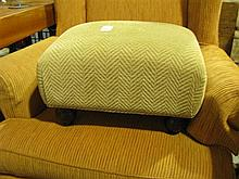 A Laura Ashley upholstered footstool