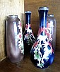 Two pairs of silver mounted blossom vases