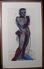 Lucinda Clutterbuck Nude 2004 Pastel & mixed media on paper