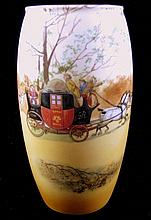 A Royal Doulton coaching? scene vase
