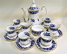 A Royal Albert 'Aristocrat' coffee set for six.