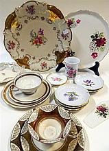 Three Bing & Grondahl and one Royal Copenhagen pin dishes together with a Dutch Delft wall plate