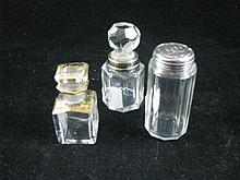 Two Victorian scent bottles and another.