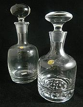 Two Bohemia crystal decanters