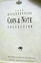 A 1985 Bicentennial coin and note collection. Reserve Bank of Australia, Royal Australian Mint