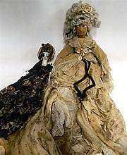 Two antique dolls in original costumes (AF)
