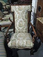 A Victorian rosewood armchair