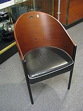 A set of four contemporary chairs