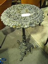 A cast iron side table