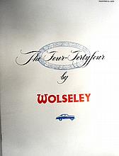 A Very Rare Sales Brochure for the Wolseley Four Fourty Four Model