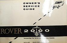A Rover 2000 Owners Service Book