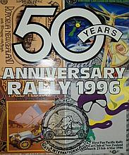 A New Zealand Vintage Car Club Poster 50th Anniversary Rally 1996