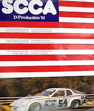 A 1981 Porsche Wins SCCA Poster with another Porsche Wins SCCA