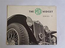 An Original MG Midget T-Series Brochure
