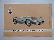 A Maserati 300S Flyer single sheet