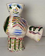 Pablo Picasso (1881-1973) Wood Owl Glazed & hand decorated terracotta