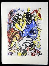Wendy Sharpe (b.1960) Baroque Kiss Silkscreen ed. 28/50