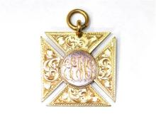 An Australian 9ct Yellow and Rose Gold Medal by JM Dempster, Sydney,