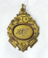 An Australian 9ct Yellow and Rose Gold Medal by Aronson & Co,