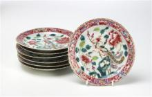 Seven Straits Chinese Porcelain Nonya Ware Dishes 19th/20th century,