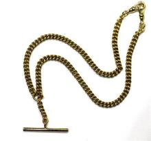 An 18ct Yellow Gold Fob Necklace,