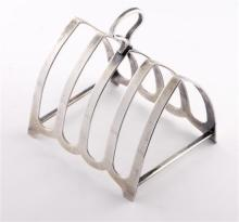 An Australian sterling silver toast rack, Hardy Bros, circa 1930