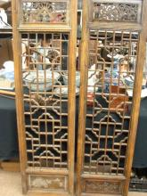 Two Chinese Window Panels, 19th/20th Century,