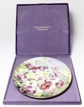 A cased Royal Doulton Hahn Vidal 'Spring Harmony' cabinet plate