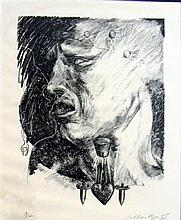 Siobhan Ryan (b.1959) Untitled (Head) 1985 Lithograph ed. 3/12