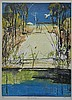 † Arthur Merric Bloomfield Boyd (1922-1999) Angus & the River Collograph ed. 4/70