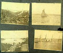 H King 19th Century A collection of 7 photographs including: Sydney Harbour from McMahon's Point 1198;1015 Yacht Akarana; 288 Sydney..