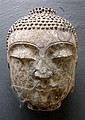 Carved Stone Buddha Head, 22cm H