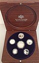 A Royal Australian Mint 2007 fine silver proof coin set in timber presentation box
