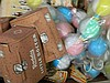 A large box of children's new old toys c 1900 - 1950
