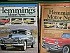 A box of Hemmings Motor News magazines