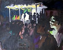 Wendy Sharpe (b.1960) Midnight Mass at Suai (Timor) 2000 Oil on board