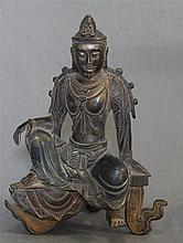 A Chinese Bronze Figure of Guanyin, 19th/20th Century,