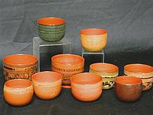 A Collection of Burmese Lacquer Bowls, c.1930s,