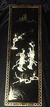 A Chinese Black Lacquered Panel,