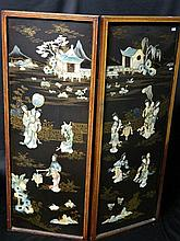 A Two Panel Chinese Screen, 20th Century,