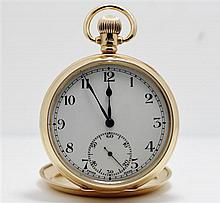 A 9ct Yellow Gold Half Hunter Pocket Watch,