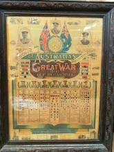 A framed printed Record of Australia's Voluntary Effort in the Great War
